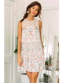 Arianna Floral Shift Dress by Francesca's