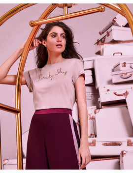 Tailliertes T Shirt Mit Beauty Sleep Logo by Ted Baker