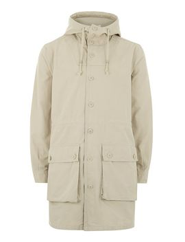 Off White Military Parka by Topman