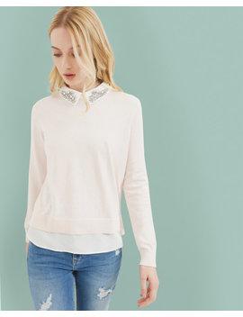 Pullover Mit Verziertem Kragen by Ted Baker