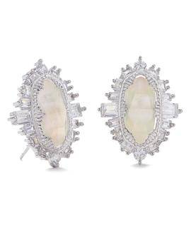 Keely Stud Earrings In Silver by Kendra Scott