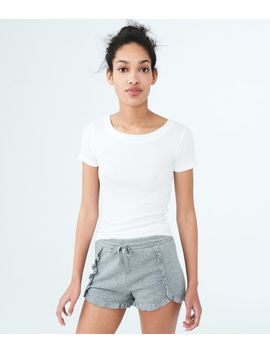 Lld Ruffled Fleece Shorts by Aeropostale