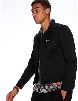 Tailored Black Trucker Jacket by Scotch&Soda
