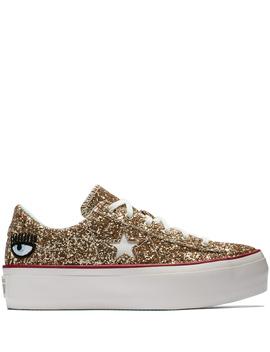 Converse X Chiara Ferragni One Star Platform Glitter by Converse