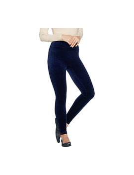 """As Is"" Spanx Velvet Leggings by Qvc"