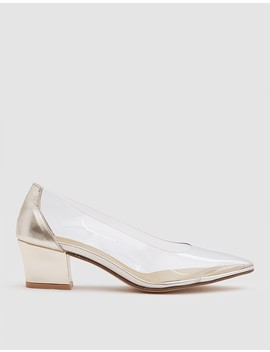Forma Pump In Gold Calf by Need Supply Co.