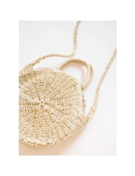 Equator Round Straw Bag   Off White by Peppermayo