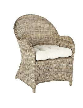 Ci Gray Wicker Arm Chair by Pier1 Imports
