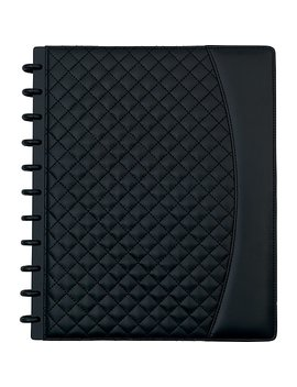 """Staples® Arc System Customizable Quilted Pu Leather Notebook System, Black, 9 1/2"""" X 11 1/2"""", 60 Sheets by Staples"""