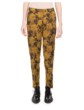 Poumas Floral Jacquard Pants by Dries Van Noten