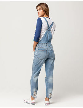 Almost Famous Premium Ripped Womens Overalls by Almost Famous