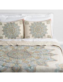 Blush And Blue Medallion Kalini Bedding Collection by World Market