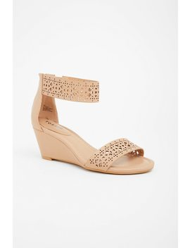 Double Strap Laser Cut Mini Wedge (Wide Width) by Torrid