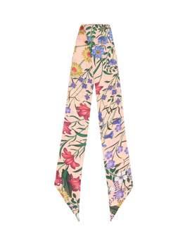 Printed Silk Twill Scarf by Gucci