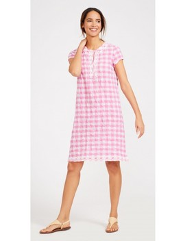 Rhett Dress In Gingham by J.Mc Laughlin