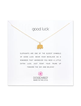 Good Luck Elephant Charm Necklace, Gold Dipped by Dogeared
