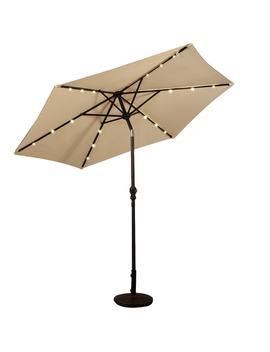 Costway 9 Ft Patio Solar Umbrella Led Patio Market Steel Tilt W/ Crank Outdoor by Generic