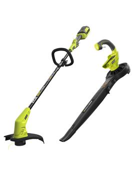 "40 Volt Lithium Ion Cordless String Trimmer And Blower/Sweeper Combo Kit (2 Tool)   2.6 Ah Battery And Charger Included by <A Class=""Bttn Outline Bttn  Cta"" Href=""/B/Outdoors Outdoor Power Equipment/Ryobi/N 5yc1v Z1aw Zbx5c"" Data Target=""N/A"">                 <Span Class=""Bttn  Content"">Ryobi</Span>             </A>"