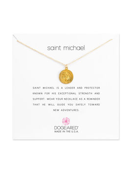 Saint Michael Charm Necklace, Gold Dipped by Dogeared