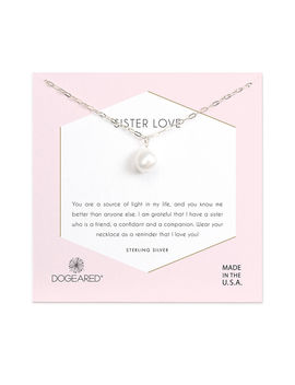 Sister Love White Baroque Pearl Necklace, Sterling Silver by Dogeared