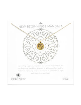 The New Beginnings Small Mandala Necklace, Gold Dipped by Dogeared