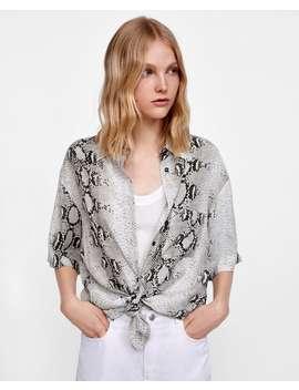 snake-print-blouse--view-allshirts by zara
