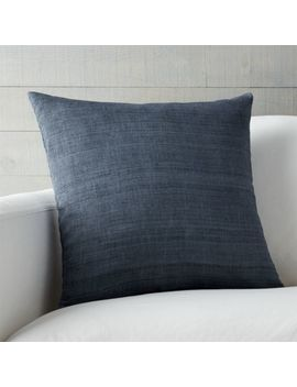 "Michaela Dusk Blue 20"" Pillow With Down Alternative Insert by Crate&Barrel"
