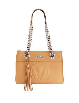 Kali Sauvage Leather Tassel Shoulder Bag by Valentino By Mario Valentino