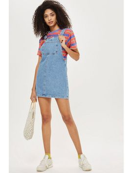 Petite Denim Pinafore Dress by Topshop