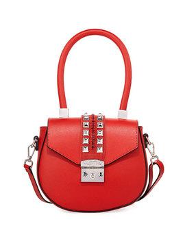 Yolande Palmellato Studded Shoulder Bag by Valentino By Mario Valentino