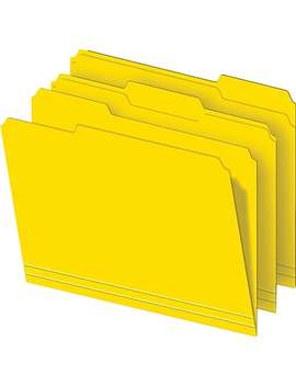 Staples® Colored Top Tab File Folders, 3 Tab, Yellow, Letter Size, 100/Pack by Staples
