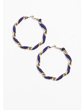 Twisted Ribbon Hoop Earrings by & Other Stories
