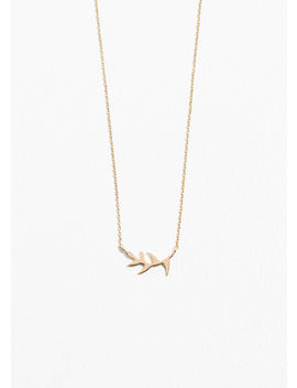 Olive Branch Charm Necklace by & Other Stories
