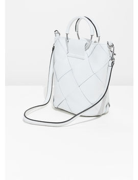 Woven Leather Bucket Bag by & Other Stories