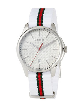 Men's 40mm G Timeless Striped Watch by Gucci