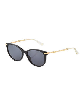 Round Plastic/Metal Sunglasses by Gucci