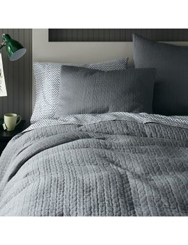 Organic Braided Matelasse Duvet Cover + Shams   Feather Gray by West Elm