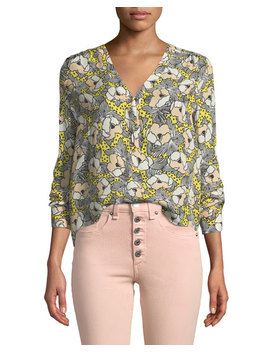 Briley Printed Button Down Long Sleeve Blouse by Veronica Beard