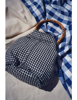 Jaggar | Bamboo Gingham Bag   Black & White Gingham by Lisa Says Gah
