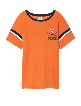 University Of Virginia Bling Short Sleeve Tee With Rib Trim by Victoria's Secret
