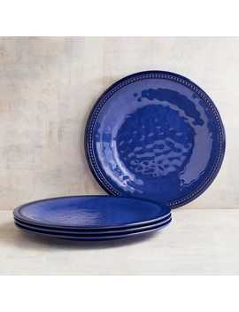 Beaded Indigo Melamine Dinner Plate Set Of 4 by Pier1 Imports