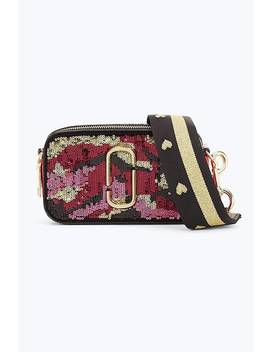 Camo Sequin Snapshot Small Camera Bag by Marc Jacobs