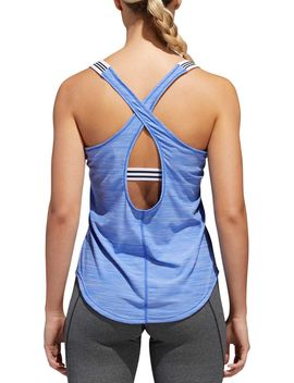 Adidas Women's Performer 3 Stripes Tank Top by Adidas