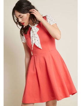 Smak Parlour Your Zest Bet A Line Dress In Coral Smak Parlour Your Zest Bet A Line Dress In Coral by Smak Parlour