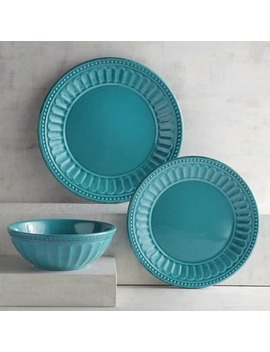 Charlotte Turquoise Melamine Dinnerware by Pier1 Imports