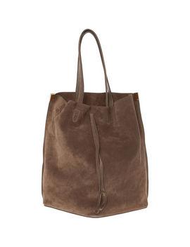Brown Suede Shoulder Bag by Maison Martin Margiela