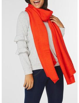 Red Pleated Scarf by Dorothy Perkins