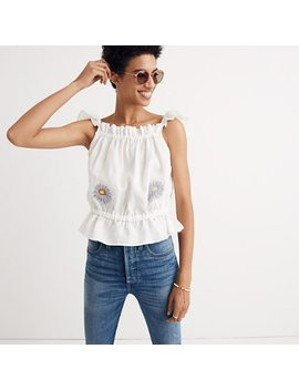Innika Choo Daisy Embroidered Singlet Top by Madewell
