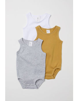 3 Pack Pima Cotton Bodysuits by H&M