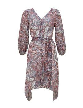 Ivory Paisley Print  Shirt Dress by Wallis